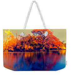 Weekender Tote Bag featuring the digital art Smoke Signals by Wendy J St Christopher