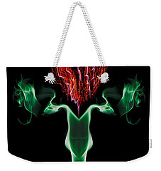 Smoke Thistle Weekender Tote Bag