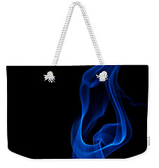 Weekender Tote Bag featuring the photograph smoke XII by Joerg Lingnau