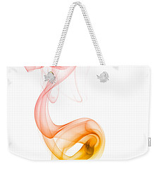 Weekender Tote Bag featuring the photograph smoke XX by Joerg Lingnau