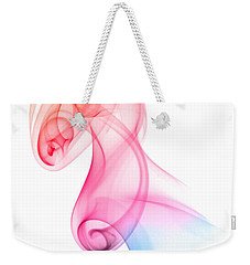 Weekender Tote Bag featuring the photograph smoke XXV by Joerg Lingnau