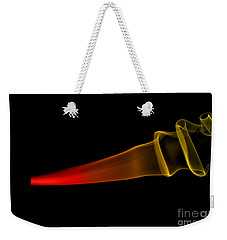 Weekender Tote Bag featuring the photograph smoke XXX by Joerg Lingnau