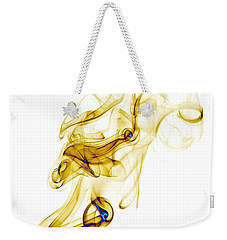 Weekender Tote Bag featuring the photograph smoke XXXIX by Joerg Lingnau