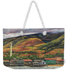 Weekender Tote Bag featuring the painting Smokestack Lahaina Maui by Darice Machel McGuire