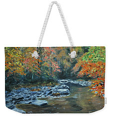 Smokey Mountain Autumn Weekender Tote Bag