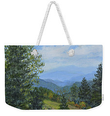 Smokey Mountain Overlook Weekender Tote Bag by Kathleen McDermott
