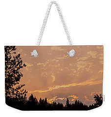 Smokey Skies Sunset Weekender Tote Bag by Melanie Lankford Photography