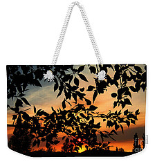 Smoked Filled Sunset Weekender Tote Bag by Janice Westerberg