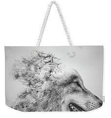 Smokey Wolf Weekender Tote Bag