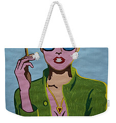 Smoking Woman Sunglasses  Weekender Tote Bag