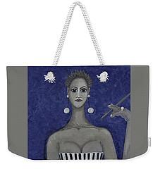 Smoking Woman 3 - Blue Weekender Tote Bag