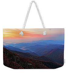 Dawn From Standing Indian Mountain Weekender Tote Bag by Daniel Reed
