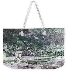 Weekender Tote Bag featuring the photograph Smoky Mountain Fisherman by Mike Eingle
