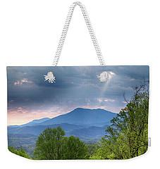 Smoky Mountain Light Weekender Tote Bag