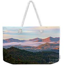 Smoky Mountain Valley Fog Weekender Tote Bag