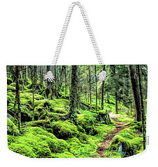 Weekender Tote Bag featuring the painting Smoky Mountains Baxter Creek Trail by Christopher Arndt