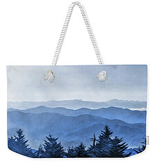 Weekender Tote Bag featuring the painting Smoky Mountains Morning Fog by Christopher Arndt