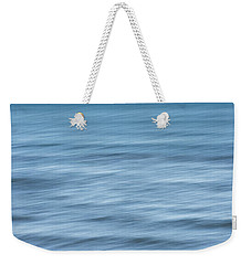 Smooth Blue Abstract Weekender Tote Bag by Terry DeLuco