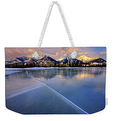Weekender Tote Bag featuring the photograph Smooth Ice by Dan Jurak