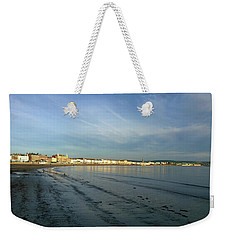 Weekender Tote Bag featuring the photograph Smooth Sands by Anne Kotan