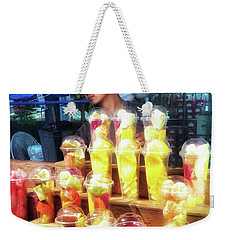 Weekender Tote Bag featuring the photograph Smoothie Nirvana. Choose A Cup Of by Mr Photojimsf