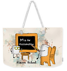 Weekender Tote Bag featuring the digital art Smore School Illustrated by Heather Applegate