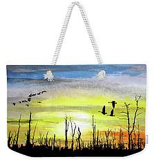 Adieu Snag Forest Weekender Tote Bag by R Kyllo
