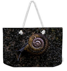Weekender Tote Bag featuring the photograph Snail by Jay Stockhaus