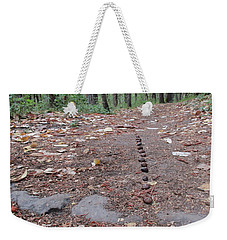 Weekender Tote Bag featuring the photograph Snail Parade All Up Hill by Marie Neder