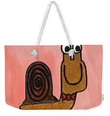 Snail Weekender Tote Bag