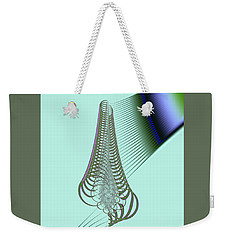 Weekender Tote Bag featuring the digital art Snail Shell by Dragica  Micki Fortuna