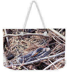 Weekender Tote Bag featuring the photograph Snake by Ester Rogers
