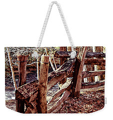 Weekender Tote Bag featuring the photograph Snake Fence by B Wayne Mullins