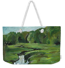 Snake Like Creek 2 Maine Weekender Tote Bag