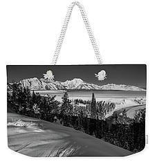 Snake River Overlook-winter Scene 79 Weekender Tote Bag