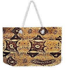 Weekender Tote Bag featuring the photograph Snake Skin II by Kathy Baccari