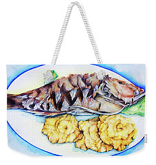 Snapper And Tostones Weekender Tote Bag