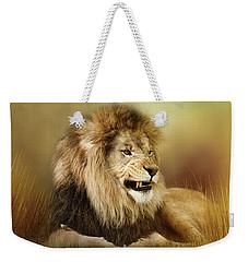 Snarling Lion Weekender Tote Bag by TnBackroadsPhotos