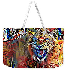 Snarling Lion Weekender Tote Bag