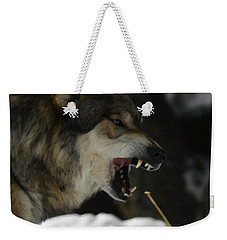 Snarling Wolf Weekender Tote Bag