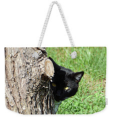 Sneaky Cat Weekender Tote Bag