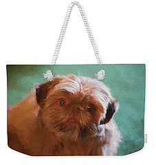 Weekender Tote Bag featuring the painting Snicker Doodle 852 -  Painting by Ericamaxine Price