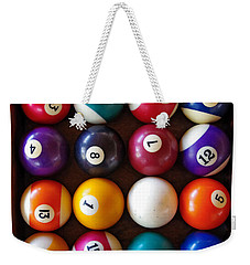 Snooker Balls Weekender Tote Bag by Carlos Caetano