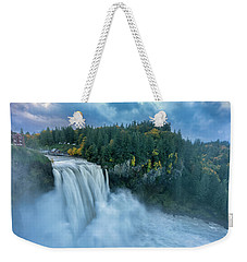 Snoqualmie Falls Rush Hour Weekender Tote Bag