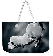 Weekender Tote Bag featuring the photograph Snow - 365-284 by Inge Riis McDonald