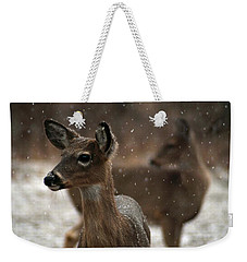 Snow Again Weekender Tote Bag