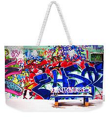 Snow And Graffiti Weekender Tote Bag