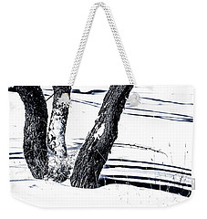 Snow And Shadows Weekender Tote Bag