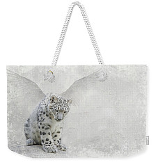 Weekender Tote Bag featuring the digital art Snow Angel by Nicole Wilde