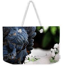 Weekender Tote Bag featuring the photograph Snow Angel Whisperer by Shelley Neff
